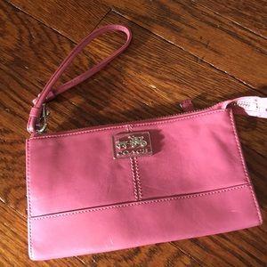 Pastel Pink Coach Wristlet